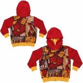 Iron Man Comic Panels Sublimated Overlay Toddler Hoodie