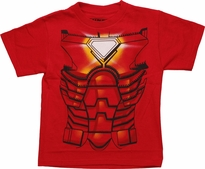Iron Man Costume Juvenile T Shirt
