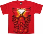 Iron Man Costume Suit Youth T Shirt