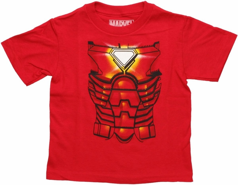 Iron Man Costume Toddler T Shirt