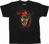 Iron Man Distressed Head Youth T Shirt