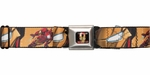 Iron Man Face Battle Stance Seatbelt Belt