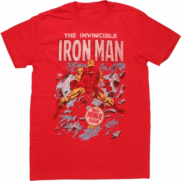 Iron Man First Cover T Shirt Sheer