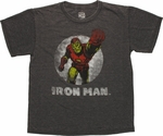 Iron Man Fist Burnout Youth T Shirt