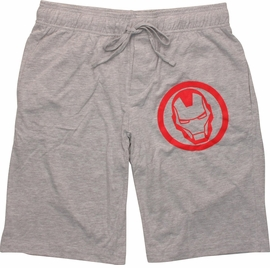 Iron Man Helm Heathered Gray Shorts
