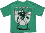 Iron Man Invincible Classic Green Youth T Shirt