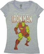 Iron Man Invincible Heathered Baby Tee