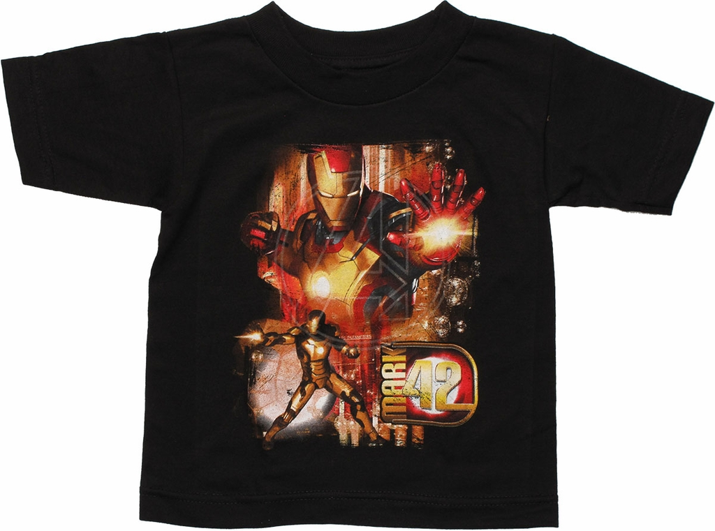 Iron Man Mark 42 Blast Black Toddler T Shirt