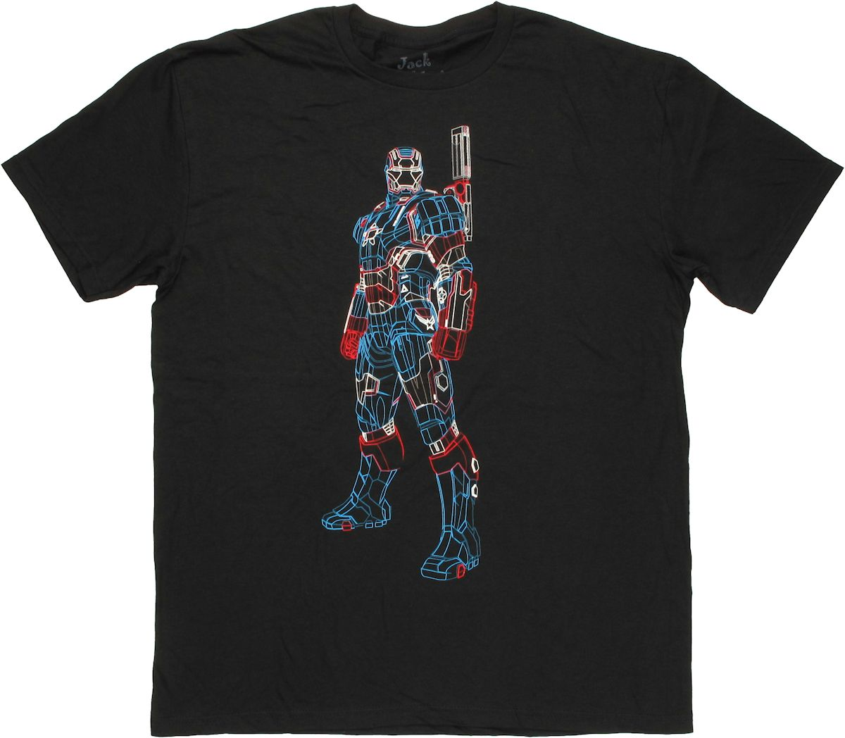 Iron Man Patriot Wire Frame T Shirt Sheer