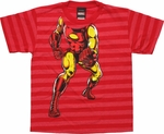 Iron Man Stripes Body Juvenile T Shirt