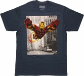 Iron Man Uptown Flight T Shirt Sheer