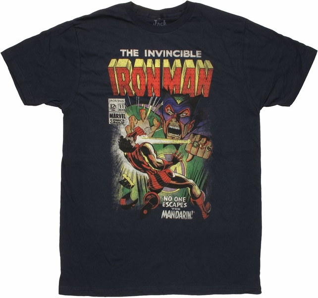 Iron Man vs Mandarin No Escape T Shirt Sheer