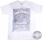 Jack Daniels Logo Penciled T-Shirt Sheer