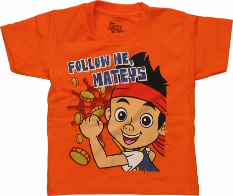 Jake and Never Land Pirates Follow Toddler T Shirt