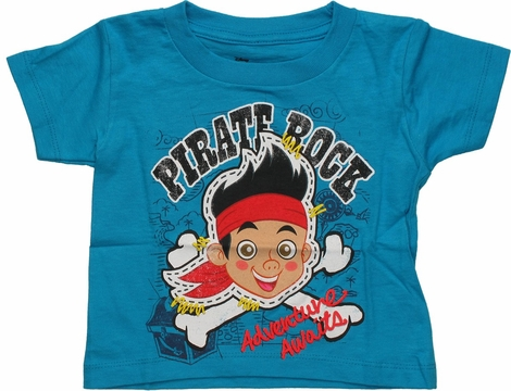 Jake and the Never Land Pirates Rock Blue Toddler T Shirt