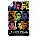 James Dean Color Block Fleece Blanket