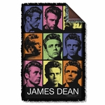 James Dean Color Block Throw Blanket