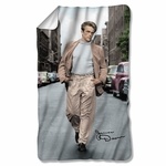 James Dean Colorful Walk Fleece Blanket