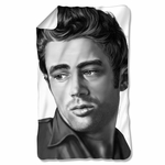 James Dean Stare Fleece Blanket
