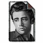 James Dean Stare Throw Blanket