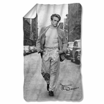 James Dean Walk Fleece Blanket