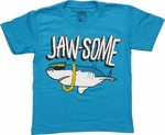 Jaw-some Heather Blue Juvenile T Shirt