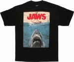 Jaws Poster Black T Shirt