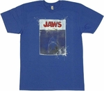 Jaws Poster T Shirt Sheer