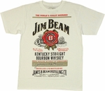 Jim Beam Full Label T Shirt Sheer