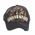 Jimi Hendrix Distressed Mesh Back Hat
