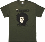 Jimi Hendrix Head T-Shirt