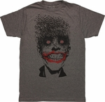 Joker Bats Head Gray T-Shirt Sheer