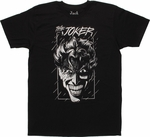 Joker Head Sketch T Shirt Sheer