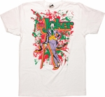 Joker Paint Splatter T Shirt Sheer