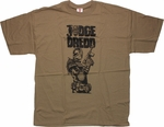 Judge Dredd Badge Name T Shirt