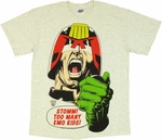 Judge Dredd Emo Kids T Shirt