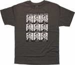 Judge Dredd Many Faces T Shirt