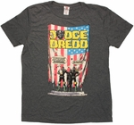 Judge Dredd Take Over Charcoal Heather T Shirt