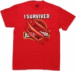 Jurassic Park I Survived T Shirt