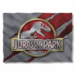Jurassic Park Slash Logo Pillow Case