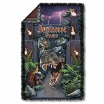 Jurassic Park Welcome to the Park Throw Blanket