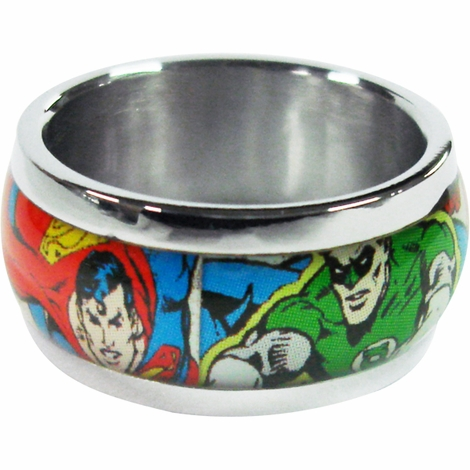 Justice League Comic Ring
