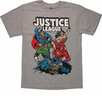 Justice League Drawn Color T Shirt