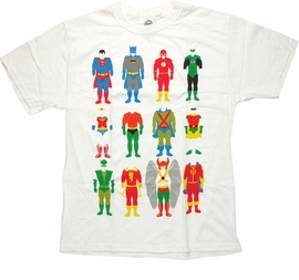 Justice League Hero Outfits T Shirt