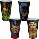 Justice League Heroes Pint Glass Set