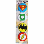 Justice League Logos Button Set