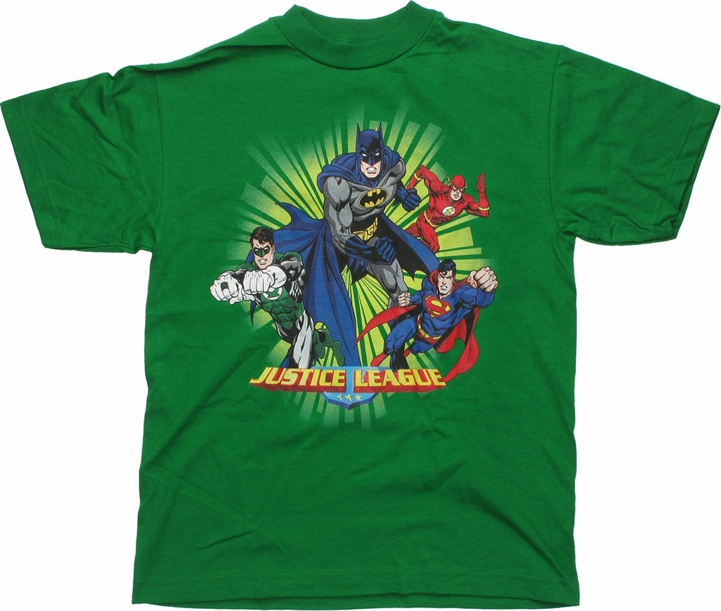 Justice League Quad Burst Youth T Shirt