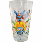 Justice League Seal Glass