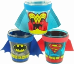 Justice League Uniforms Caped Shot Glass Set