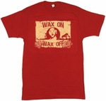 Karate Kid Wax On T-Shirt Sheer
